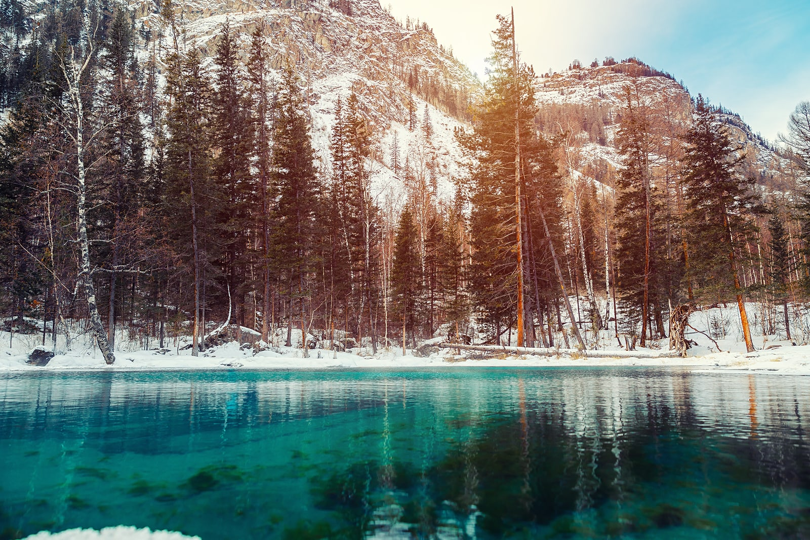 bigstock-Winter-Snow-Lake-In-Mountains--281421832